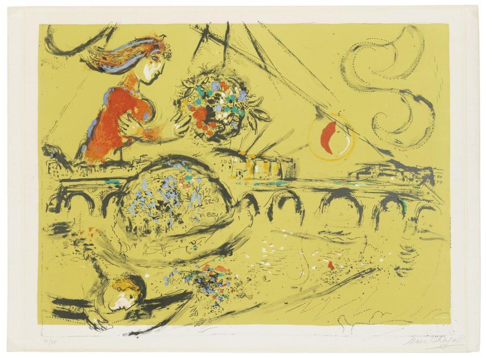 Marc Chagall Saint Louis Adası, Figür, Marc Chagall, kanvas tablo, canvas print sales