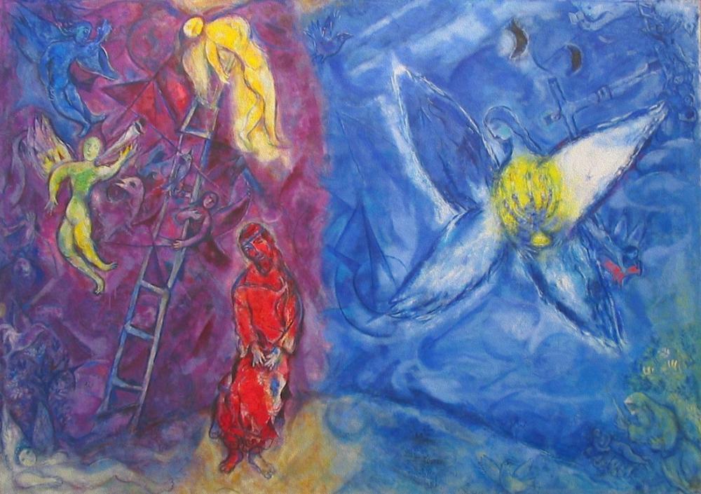 Marc Chagall Jacobs Rüyası, Figür, Marc Chagall, kanvas tablo, canvas print sales