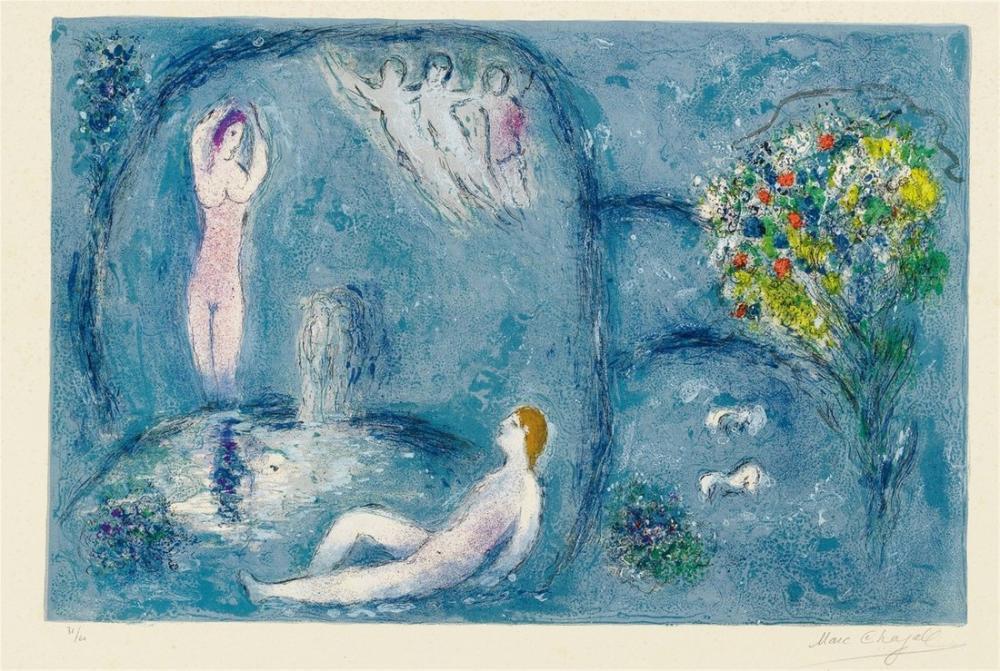 Marc Chagall Periler Mağarası, Figür, Marc Chagall, kanvas tablo, canvas print sales