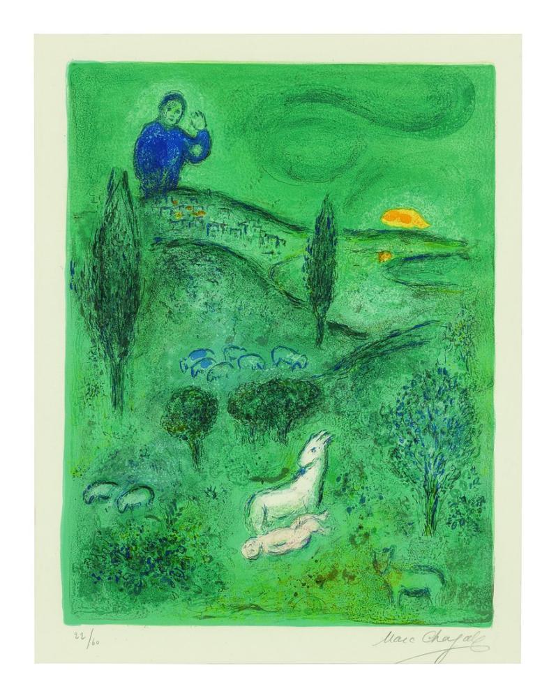 Marc Chagall Lamon Discovers Daphnis, Figure, Marc Chagall, kanvas tablo, canvas print sales