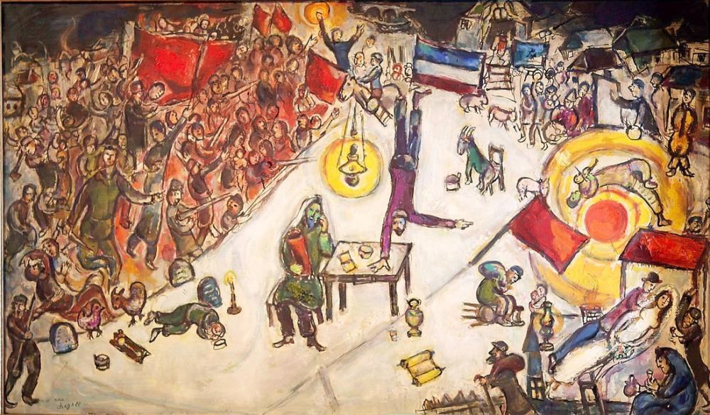 Marc Chagall La Revolution, Figure, Marc Chagall, kanvas tablo, canvas print sales