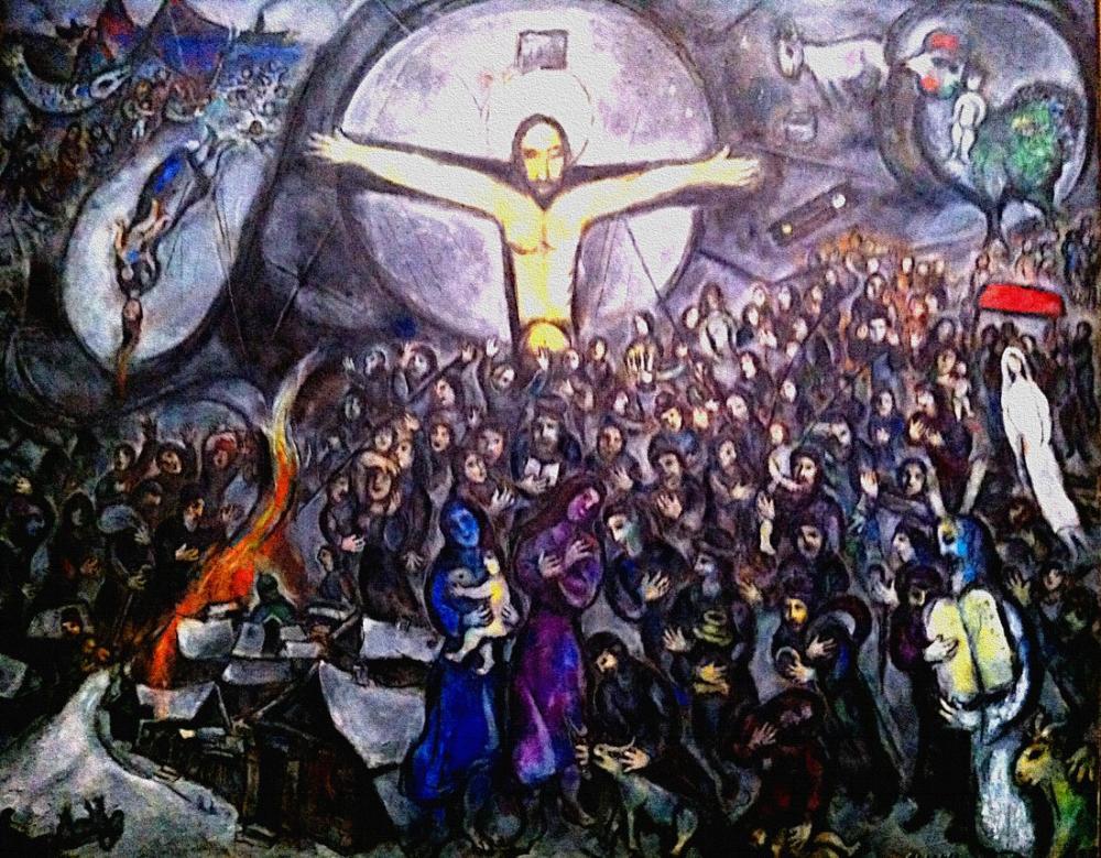 Marc Chagall Mesih Ruhu Lider, Figür, Marc Chagall, kanvas tablo, canvas print sales