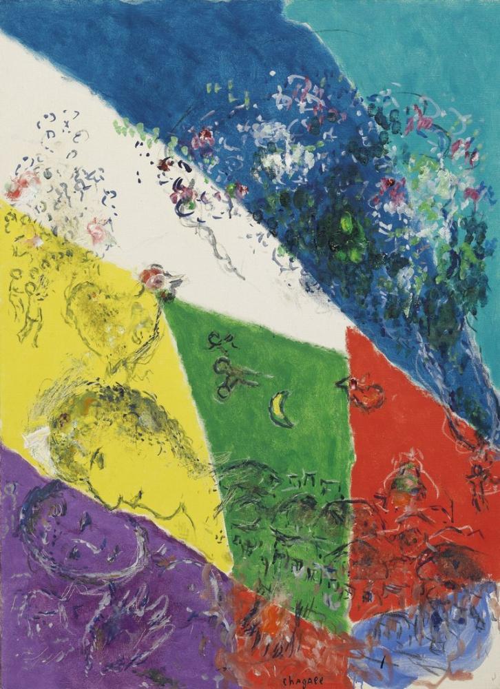 Marc Chagall Öpücük, Figür, Marc Chagall, kanvas tablo, canvas print sales