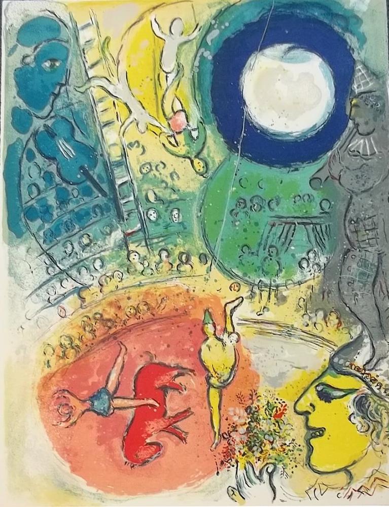 Marc Chagall Sirk III, Figür, Marc Chagall, kanvas tablo, canvas print sales