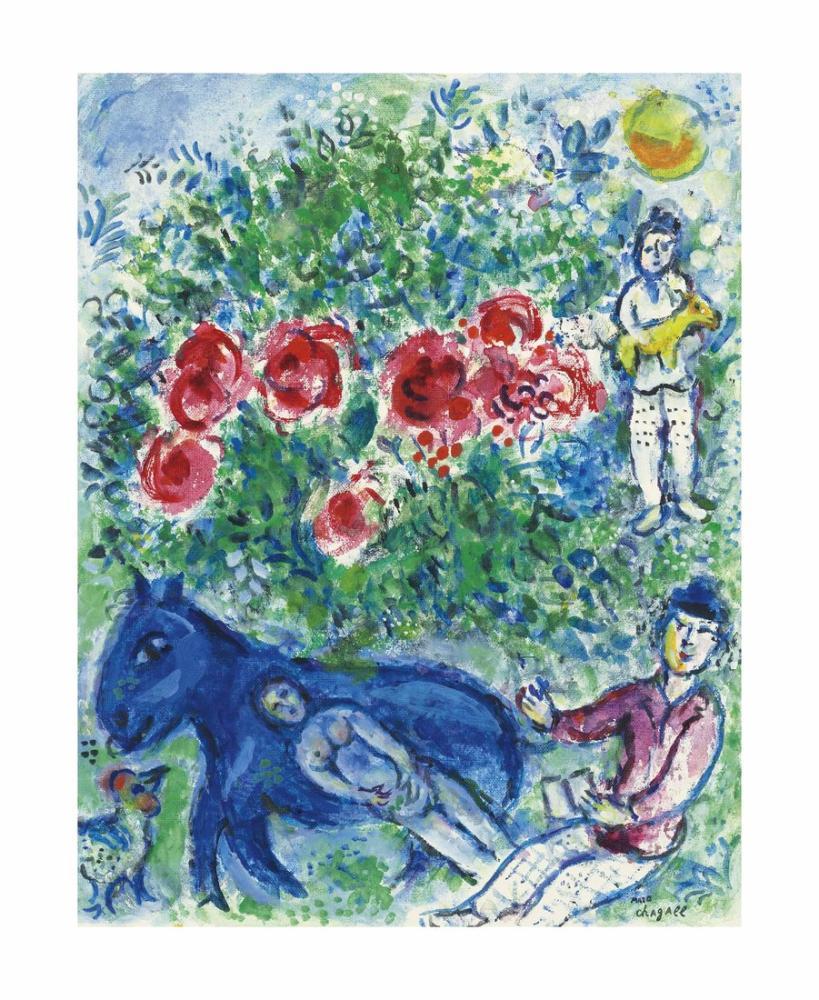 Marc Chagal Ane Bleu, Figure, Marc Chagall, kanvas tablo, canvas print sales
