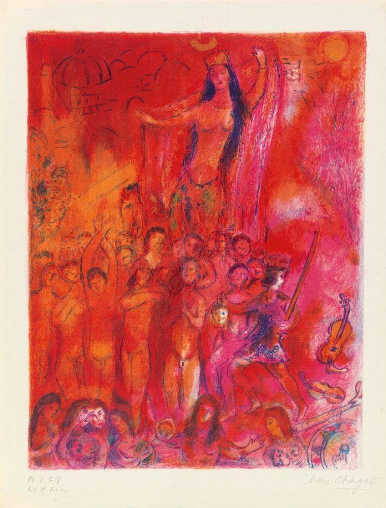 Marc Chagal Arabian Nights, Figure, Marc Chagall, kanvas tablo, canvas print sales