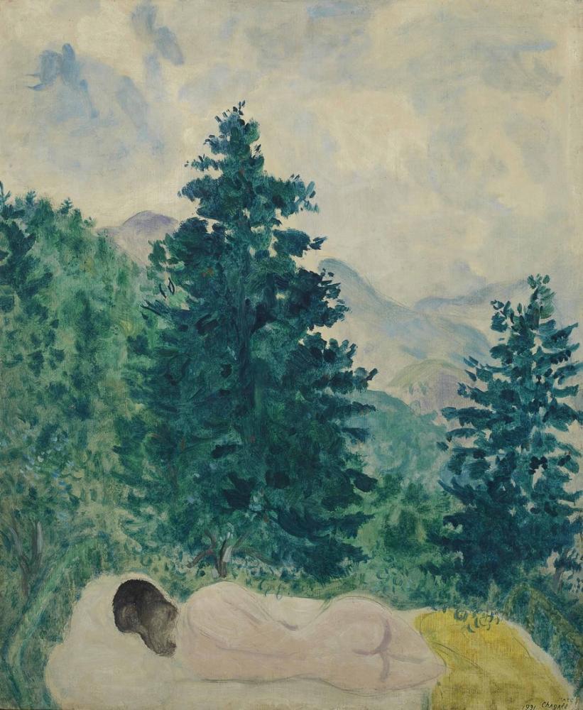 Marc Chagall Le Nu A Peyra Cava, Canvas, Marc Chagall, kanvas tablo, canvas print sales