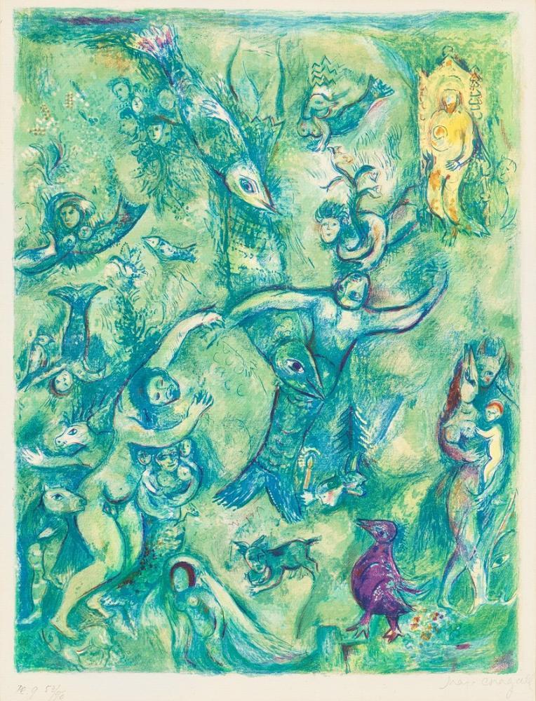 Marc Chagal Arabian Nights II, Figure, Marc Chagall, kanvas tablo, canvas print sales