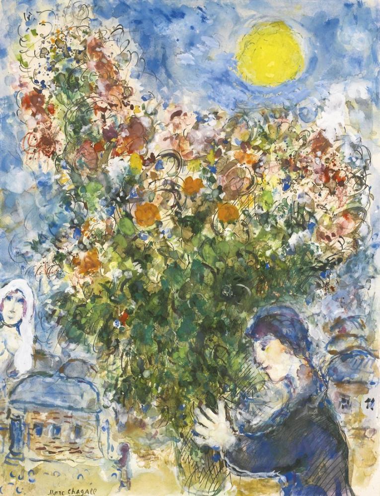 Marc Chagall Pretender, Figür, Marc Chagall, kanvas tablo, canvas print sales