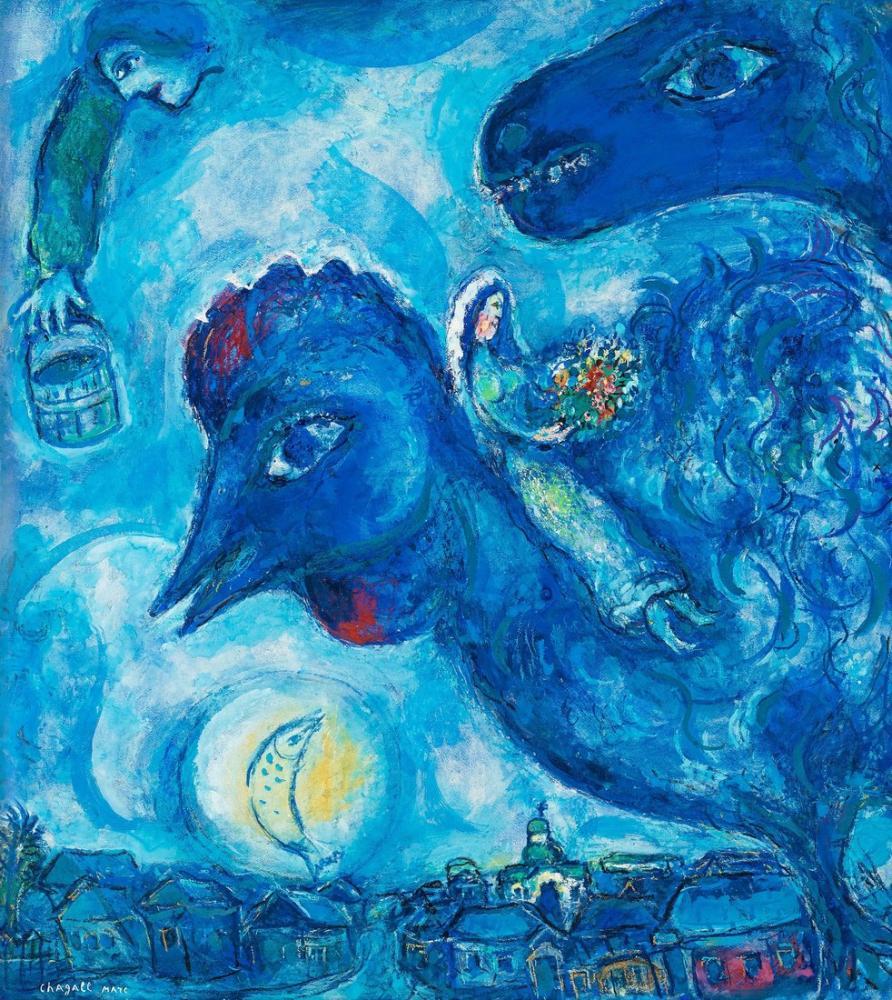 Marc Chagall Vitebsk Hayali, Figür, Marc Chagall, kanvas tablo, canvas print sales
