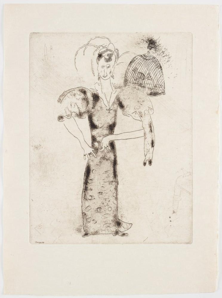 Marc Chagall Ölü Ruhlar, Figür, Marc Chagall, kanvas tablo, canvas print sales