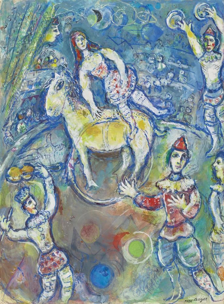 Marc Chagall Au Cirque, Figure, Marc Chagall