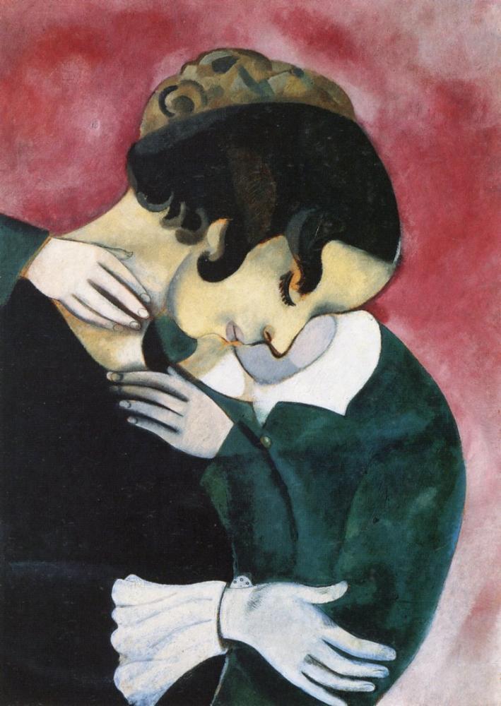Marc Chagall Pembeli Aşıklar, Figür, Marc Chagall, kanvas tablo, canvas print sales