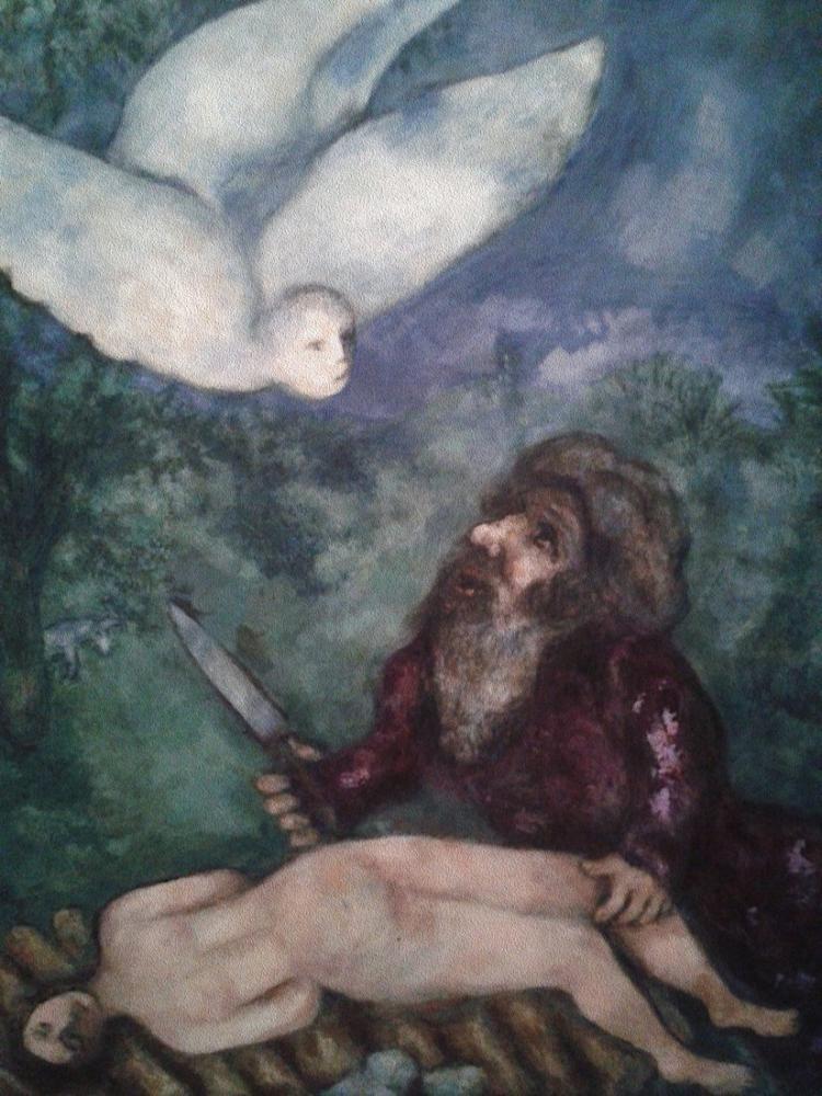 Marc Chagall İbrahim Oğlunu Feda Edecek, Figür, Marc Chagall, kanvas tablo, canvas print sales