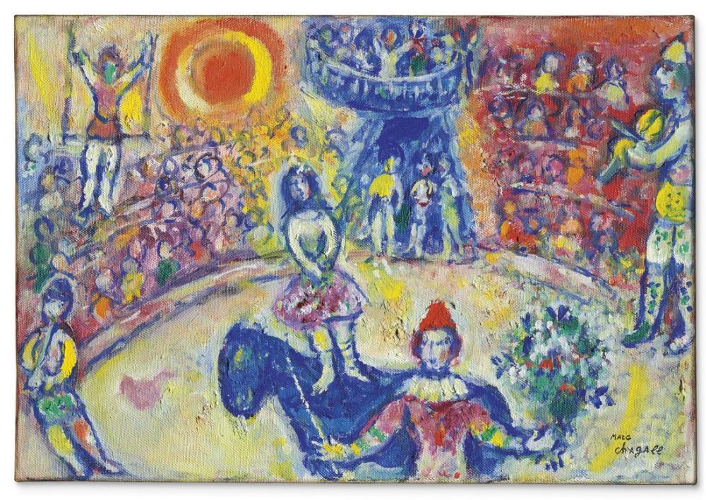 Marc Chagal Au Cirque III, Figure, Marc Chagall, kanvas tablo, canvas print sales