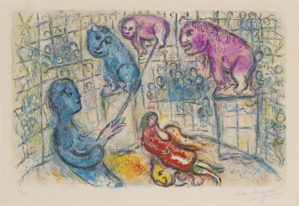Marc Chagall Sirkten Bir Plaka, Figür, Marc Chagall, kanvas tablo, canvas print sales