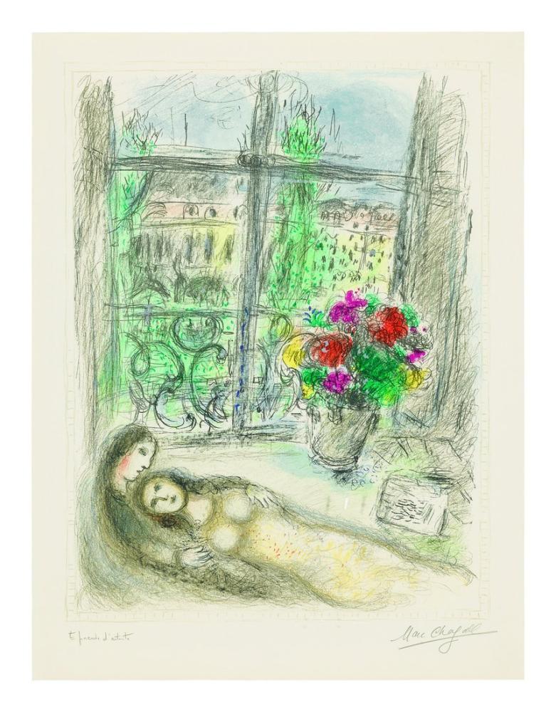 Marc Chagall Quai Des Célestins, Figür, Marc Chagall, kanvas tablo, canvas print sales