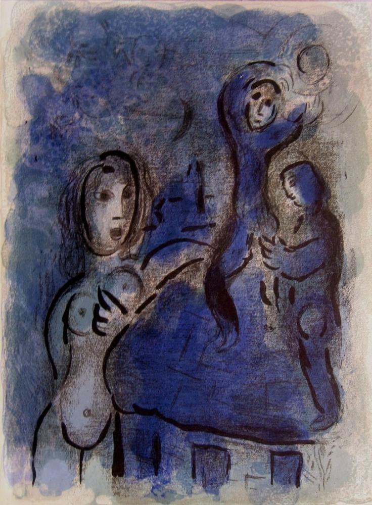Marc Chagall Rahab Ve Jericho Casusları, Figür, Marc Chagall, kanvas tablo, canvas print sales