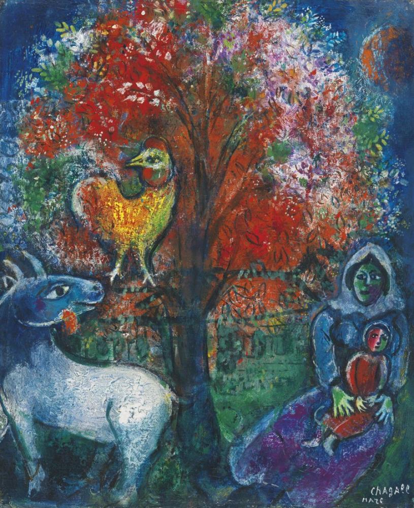 Marc Chagall Sahne Şampiyonu, Figür, Marc Chagall, kanvas tablo, canvas print sales