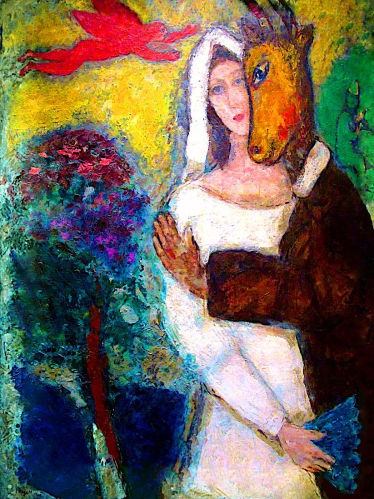 Marc Chagall Dream Of A Summer Night, Figure, Marc Chagall, kanvas tablo, canvas print sales