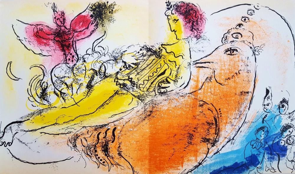 Marc Chagall Akordeoncu, Figür, Marc Chagall, kanvas tablo, canvas print sales