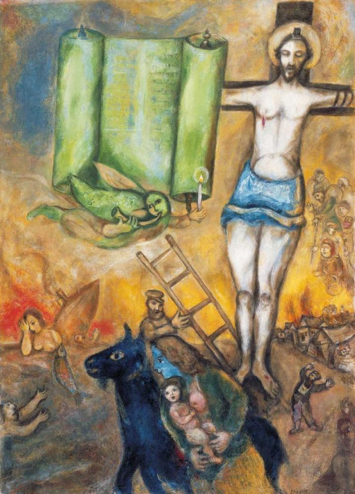 Marc Chagall İsa nın Cambridge Yoldaşı, Figür, Marc Chagall, kanvas tablo, canvas print sales