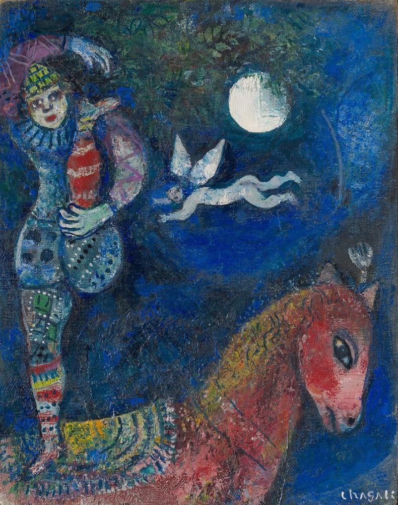 Marc Chagall Sirk Binici, Figür, Marc Chagall, kanvas tablo, canvas print sales