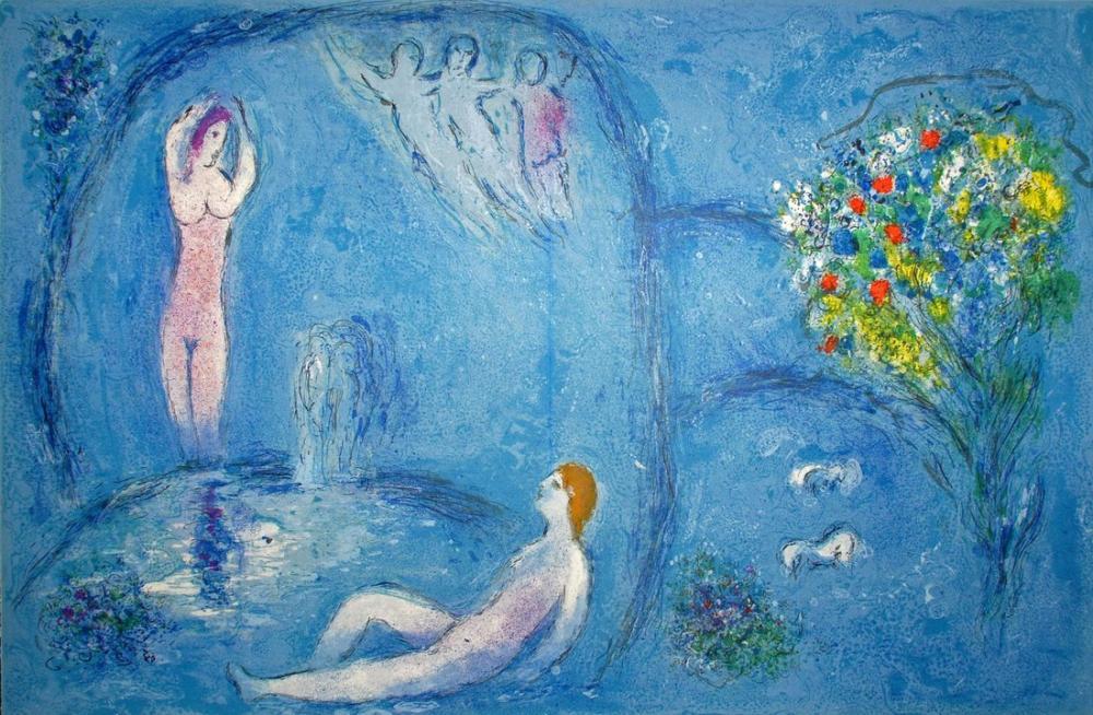 Marc Chagall Perileri Mağarası, Figür, Marc Chagall, kanvas tablo, canvas print sales