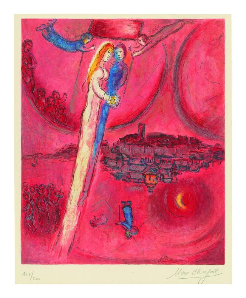 Marc Chagall Şarkıların Şarkısı, Figür, Marc Chagall, kanvas tablo, canvas print sales