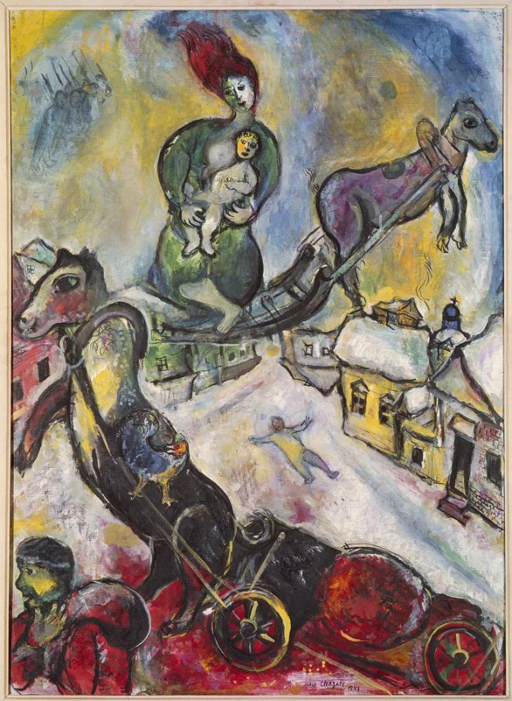Marc Chagall Savaş, Figür, Marc Chagall, kanvas tablo, canvas print sales