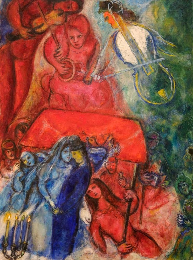Marc Chagall Düğün, Figür, Marc Chagall, kanvas tablo, canvas print sales