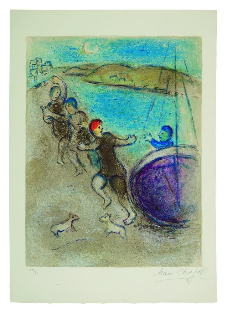 Marc Chagall Genç Metinler, Figür, Marc Chagall, kanvas tablo, canvas print sales