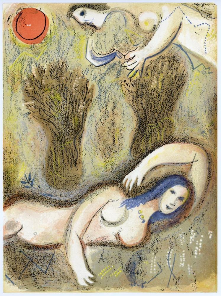 Marc Chagall Harman Yeri Ruth Boaz, Figür, Marc Chagall, kanvas tablo, canvas print sales