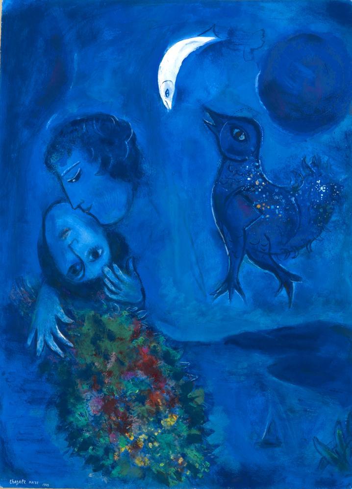 Marc Chagall Mavi Manzara, Figür, Marc Chagall, kanvas tablo, canvas print sales