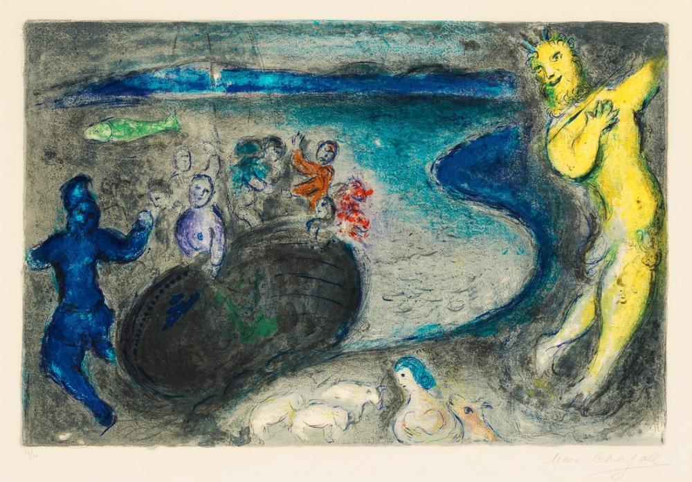 Marc Chagall Kaptan Bryaxis Rüyası, Figür, Marc Chagall, kanvas tablo, canvas print sales