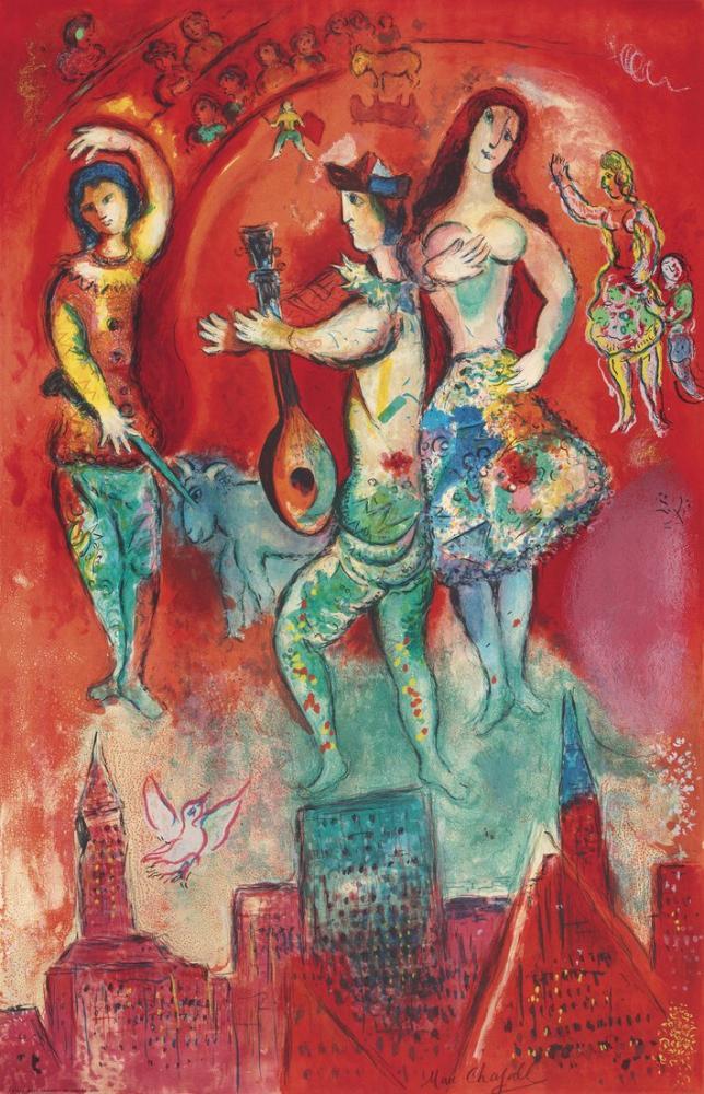 Marc Chagall Charles Sorlier Carmen, Figür, Marc Chagall, kanvas tablo, canvas print sales
