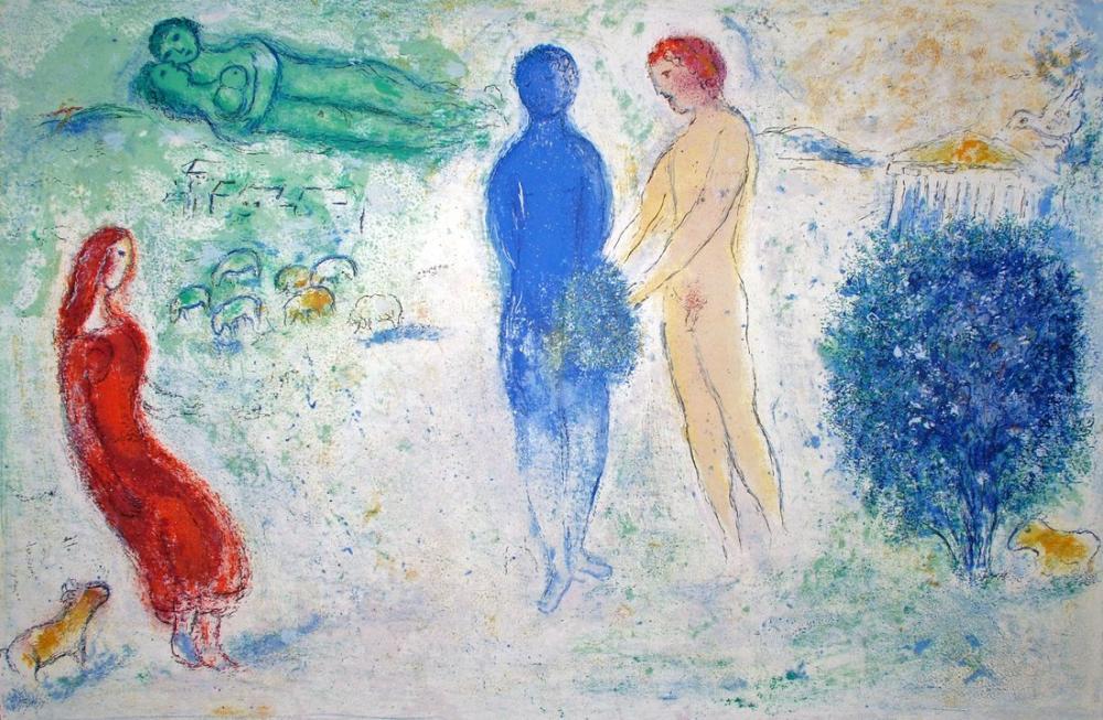 Marc Chagall Chloes Yargı, Figür, Marc Chagall, kanvas tablo, canvas print sales