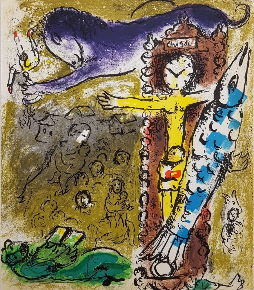 Marc Chagall Saat İçinde Mesih, Figür, Marc Chagall, kanvas tablo, canvas print sales