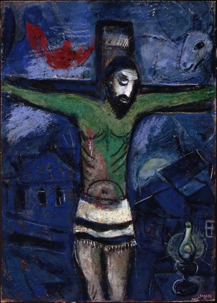 Marc Chagall Gece Mesih, Figür, Marc Chagall, kanvas tablo, canvas print sales