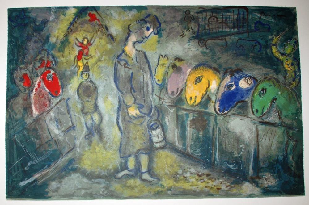 Marc Chagall Circus, Figure, Marc Chagall, kanvas tablo, canvas print sales