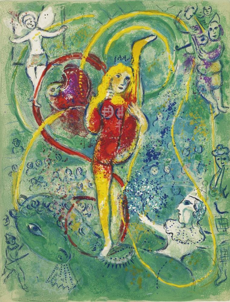 Marc Chagall Sirk, Figür, Marc Chagall, kanvas tablo, canvas print sales