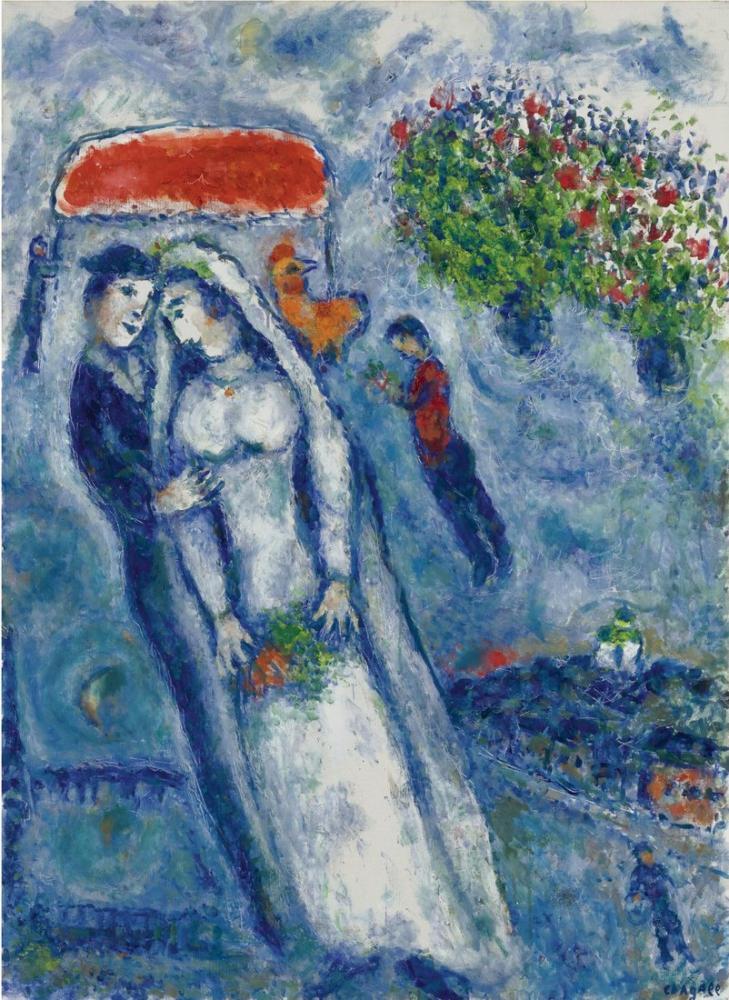 Marc Chagall İki Yeşil Eşek, Figür, Marc Chagall, kanvas tablo, canvas print sales