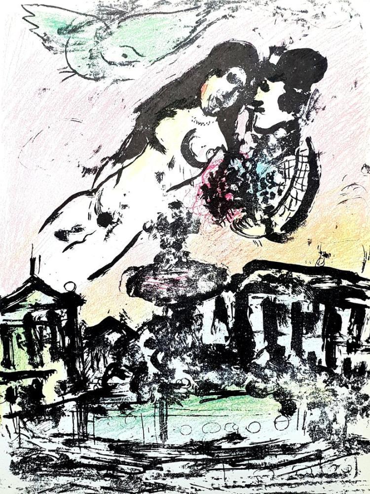 Marc Chagall El Vuelo, Figure, Marc Chagall, kanvas tablo, canvas print sales