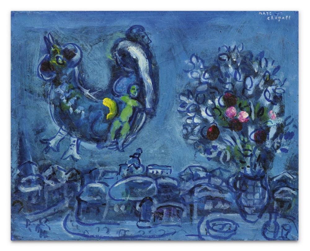 Marc Chagall Yerli Köyün Uyarılması Veya Kuş Kadını İçin Yapılan Çalışma, Figür, Marc Chagall, kanvas tablo, canvas print sales