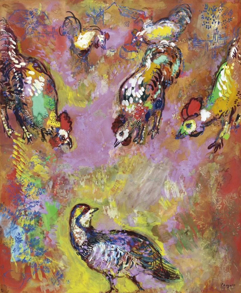 Marc Chagall Çeşmenin Masalları, Figür, Marc Chagall, kanvas tablo, canvas print sales
