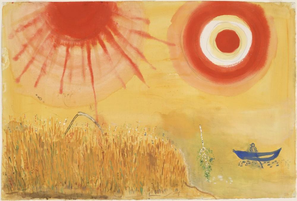 Marc Chagall Sahne İçin Fantezileri, Figür, Marc Chagall, kanvas tablo, canvas print sales