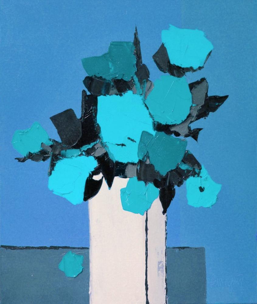 Marcel Demagny Fleurs Odorantes Blue, Canvas, Marcel Demagny, kanvas tablo, canvas print sales