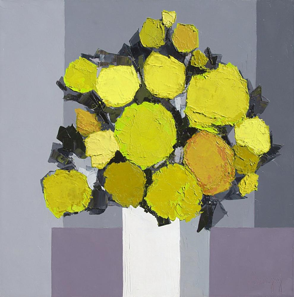 Marcel Demagny Yellow Flowers, Canvas, Marcel Demagny