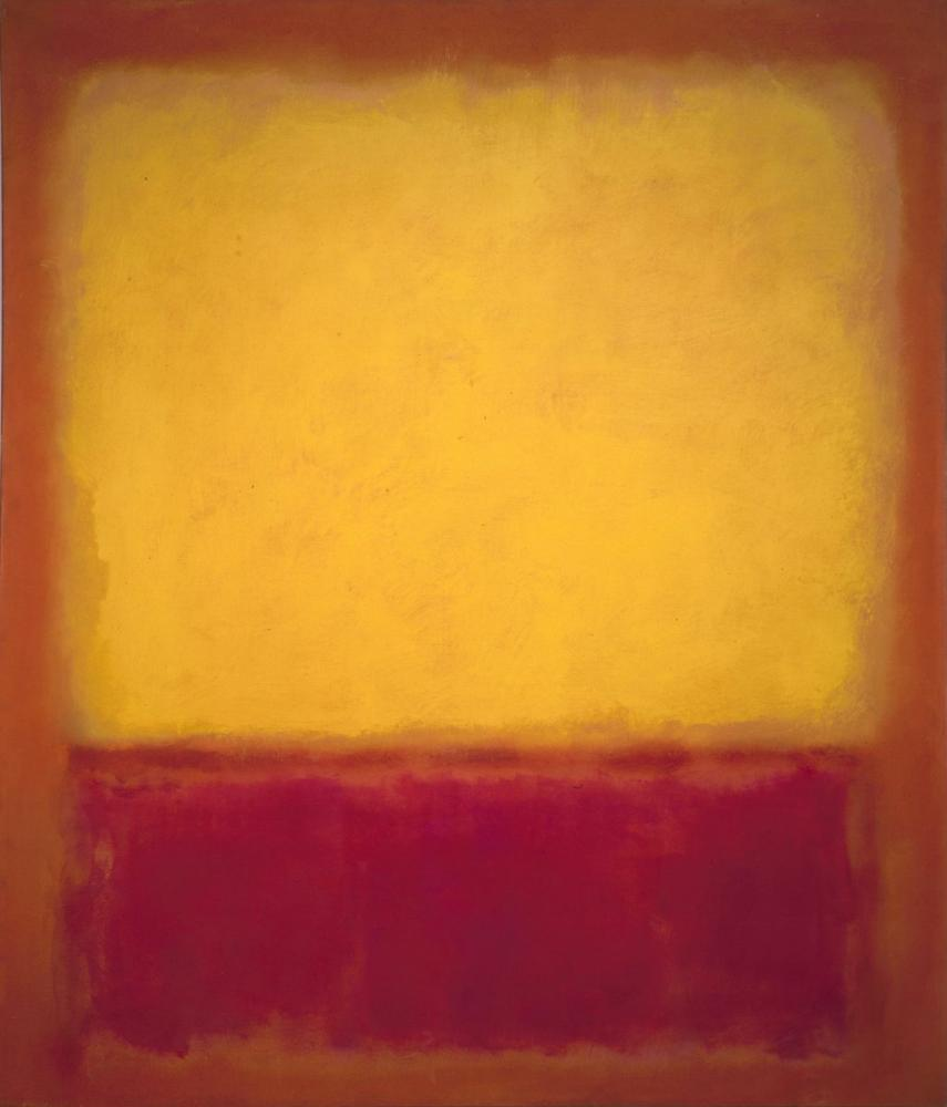 Mark Rothko Yellow Over Purple 1956, Canvas, Mark Rothko, kanvas tablo, canvas print sales