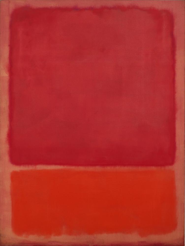 Mark Rothko İsimsiz Kırmızı Turuncu, Kanvas Tablo, Mark Rothko, kanvas tablo, canvas print sales